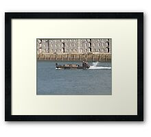 Marines  chilling on boat  Framed Print