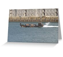Marines  chilling on boat  Greeting Card