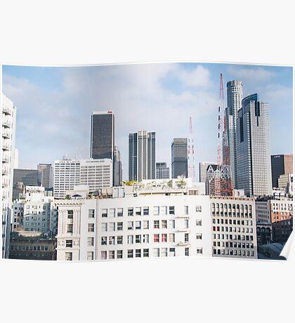 los angeles buildings Poster