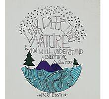Einstein: Nature Photographic Print