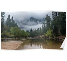 Early Morning on the Merced River Poster