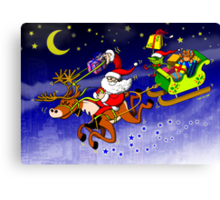 Santa's Gift Delivery with a Slingshot! Canvas Print