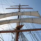 Mast and sails of The Star of India by Beninmanc