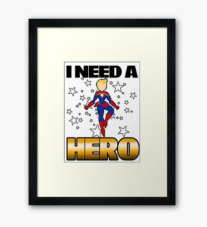 I Need a Captain Framed Print