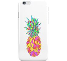Girly Pink Geometric Triangles Pineapple iPhone Case/Skin