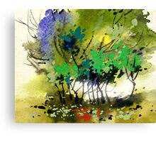 Light in trees Canvas Print