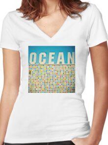 Ocean Women's Fitted V-Neck T-Shirt