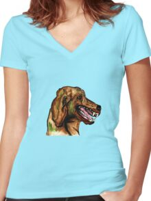 The Hound of the Baskervilles Women's Fitted V-Neck T-Shirt