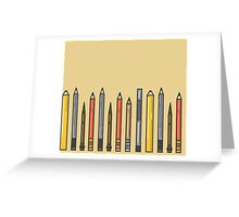 Pencils! Greeting Card