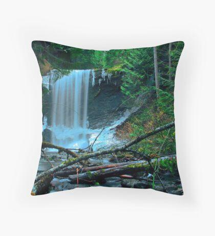Painted falls - Ammonite Falls, Nanaimo Throw Pillow