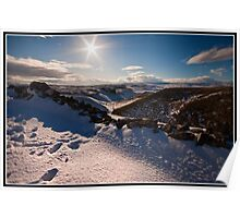Winter views over Conistone Poster