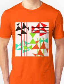 Trendy Bold Bright Colorful Abstract Geometric Design T-Shirt