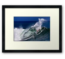 Surfing: Up Close and Personal Framed Print