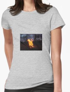 Fire Womens Fitted T-Shirt