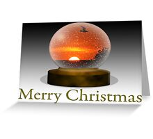 Merry Christmas Sunset Snowscape 1 Greeting Card