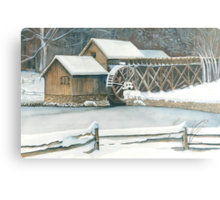 Mabry Mill Winter Metal Print