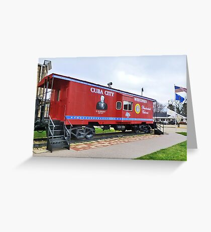 Presidential Caboose Greeting Card