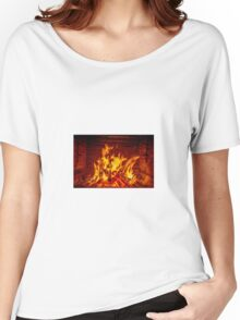Fireplace Women's Relaxed Fit T-Shirt