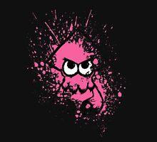 Splatoon Black Squid with Blank Eyes on Pink Splatter Mask Unisex T-Shirt