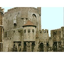 The Gravensteen Castle - Ghent Belgium Photographic Print