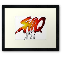 Shaq Fu Framed Print