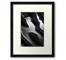 Silver Ripples Framed Print