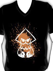 Splatoon White Squid on Orange Splatter T-Shirt