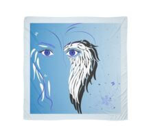 Beauty woman's face, wings and butterflies Scarf