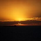 skyscapes #41, orange & black by stickelsimages