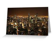 Chicago de noche Greeting Card