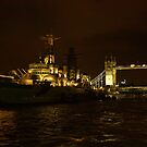 Belfast and Bridge by Andrew S