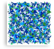 Geometric abstraction in blue and green Canvas Print