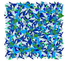 Geometric abstraction in blue and green Photographic Print