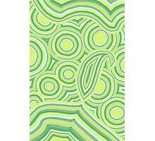 Green Color Burst Photographic Print