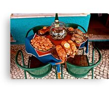 Restaurant in Caldas da Rainha, Portugal Canvas Print