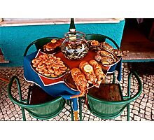 Restaurant in Caldas da Rainha, Portugal Photographic Print