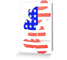 Mickey Mouse America Greeting Card