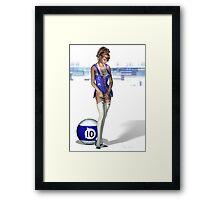 Poolgames 2009 - No. 10 Framed Print