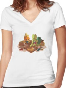 Explorers of Sky Women's Fitted V-Neck T-Shirt
