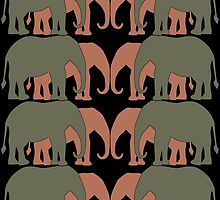 Elephants Two by Two by CarolM