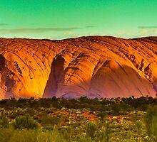 Northern Territory - Uluru - Ayers Rock Resort view 2 by Geoffrey Thomas