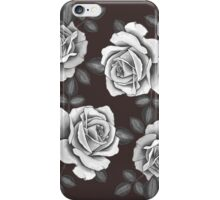 White Realistic Roses iPhone Case/Skin