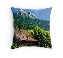 Saint Pierre in Chartreuse Throw Pillow