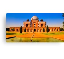 North India - Humayun's  tomb - New Delhi Canvas Print