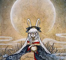 Reflect - Usagi Moon Rabbit by TeaKitsune