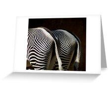 Zebras, two same kinds Greeting Card