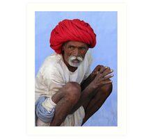 RED TURBAN - RAJASTHAN Art Print