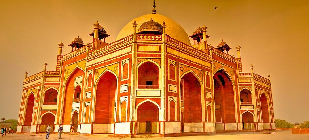 North India - Humayun's  tomb - New Delhi 6 by Geoffrey Thomas