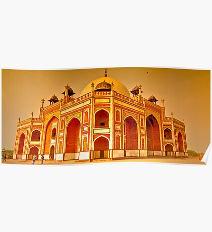 North India - Humayun's  tomb - New Delhi 6 Poster