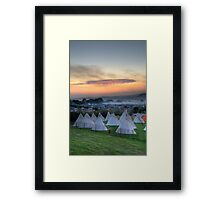 Glastonbury Festival Sunset Framed Print